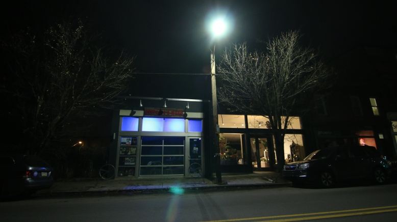 EspressoAMano Projection mapping pittsburgh, projectileobjects, coffee shop window projection