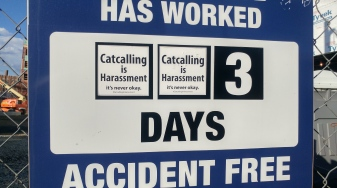 catcalling construction workers sticker