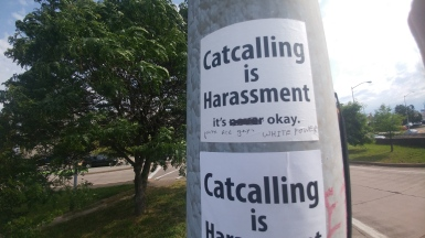 catcalling is harassment sticker sexism