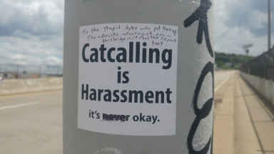 catcalling is harassment sticker violence